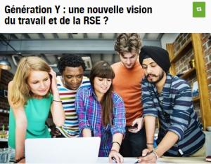 Géneration Y et RSE